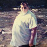 Hanging out at Salmon Creek, Washington in 1991.